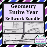 Geometry ENTIRE YEAR Bellwork Station Cards BUNDLE!