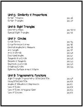 Geometry FULL YEAR Graphic Organizer 50+pgs GROWING BUNDLE!