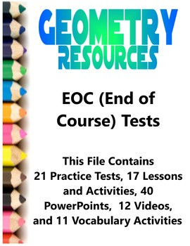 Geometry EOC (End of Course) Resources Test Prep Teacher Supplemental Activities