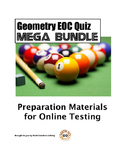 Geometry EOC Quiz MEGA BUNDLE