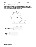 Geometry EOC Quiz - Tangent Lines and Circles BUNDLE