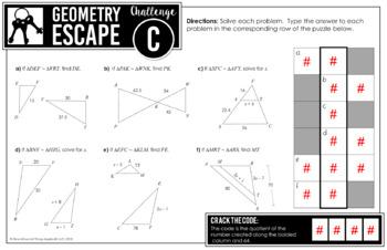 Geometry EOC Review: Escape Room Activity: DIGITAL VERSION ...