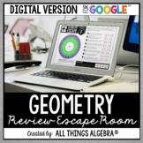 Geometry EOC Review: Escape Room Activity: DIGITAL VERSION