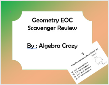 Geometry EOC Scavenger Review