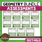 Geometry Editable Assessments BUNDLE