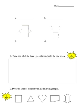 Geometry End of Unit Test