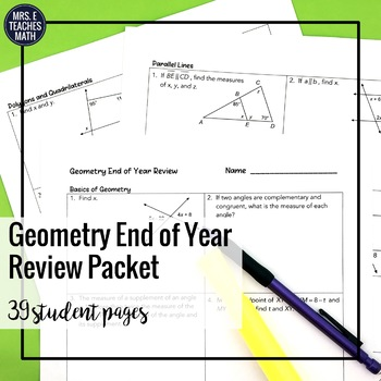 Geometry End of Year Review