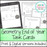 Geometry End of Year Task Cards