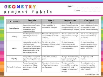 3rd Grade Geometry Choice Board – Enrichment Math Menu