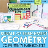 Geometry Enrichment | Third Grade Math Workshop Unit Bundle