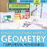 Geometry Enrichment | Third Grade Math Workshop Unit Bundle