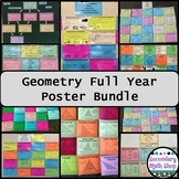 Wall Posters - Geometry Entire Year  Complete Bundle!