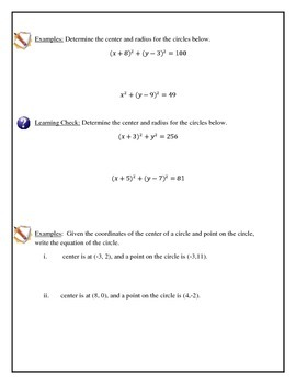 Geometry - Equation of a Circle