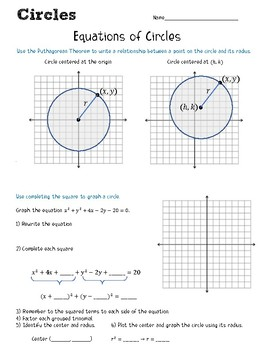 Geometry: Equations of Circles