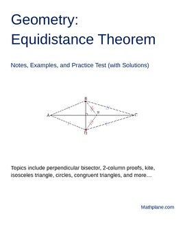 Geometry Equidistance Theorem Proofs