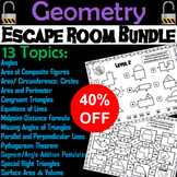 Geometry Escape Room Math (Volume, Surface Area, Pythagorean Theorem, etc.)