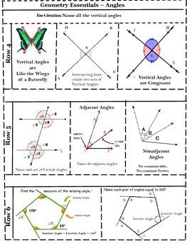 Geometry Essentials 2 - Angles