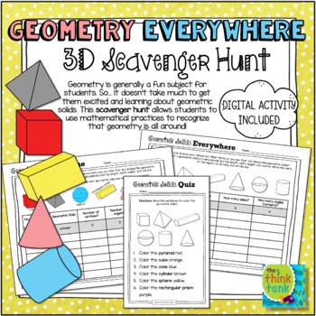 Geometry Everywhere: 3D Solids Scavenger Hunt