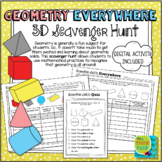 Geometry Everywhere: 3D Solids Scavenger Hunt   Distance Learning