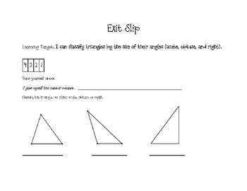 Geometry Exit Slips
