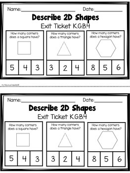 Geometry Exit Tickets