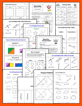 Geometry Lessons, Activities, and Printables (Includes Editable Resources)
