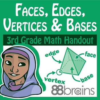 Geometry: Faces, Edges, Vertices, and Bases pgs.8-10 (CCSS)