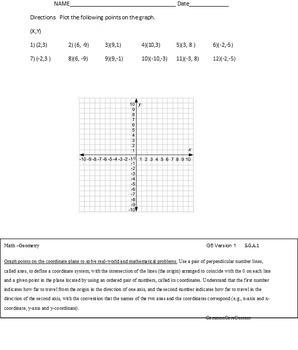 Geometry - Fifth Grade Common Core Math Worksheets - All S
