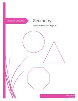 Series Four Geometry Montessori nomenclature 3-part cards & control book set
