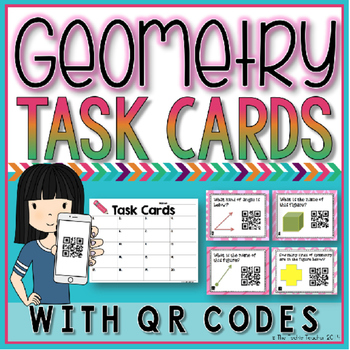 Geometry Figures Task Cards with QR Codes
