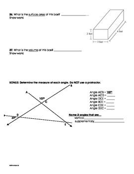 Geometry Final Assessment