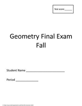 Geometry Final Exam: 1st Semester (Fall) Final Exam