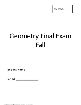 Geometry Final Exam: 1st Semester (Fall) Final Exam