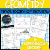 Geometry Final Exam/Review Test