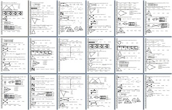 Geometry Final Exam Fall 2013; multiple-choice; 2 versions; with key (Editable)