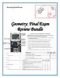 Geometry Final Exam Review Bundle