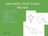 Geometry Final Exam Review Jeopardy