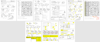 Geometry Final Exam Review Study Guide Fall 2011 with Answer Key (Editable)