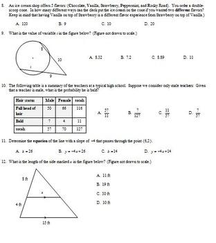 Geometry Final Exam Spring 2014; multiple-choice; 2 ...