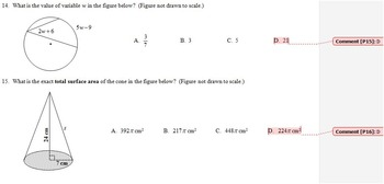 Geometry Final Exam Spring 2014; multiple-choice; 2 versions; with key-Editable