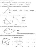 Geometry Final Exam Spring 2014; multiple-choice; 2 versio
