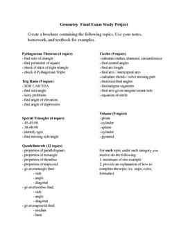Geometry Final Review (Semester 2)