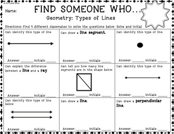 Geometry Find Someone Who Activity