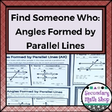 Geometry - Find Someone Who . . . Angles Formed by Parallel Lines