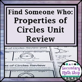 Geometry - Find Someone Who . . . Circles Unit Review