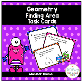 Geometry Finding Area of 2D Figures
