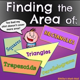 Area of  Squares, Rectangles, Parallelograms, Triangles, a