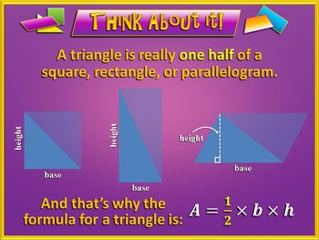 Area of Parallelograms, Triangles, and Trapezoids (PowerPoint Only)