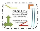 Geometry- Finding and Creating Lines and Angles (differentiated)