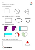 Year 2 Geometry- Finding half of a shape 1